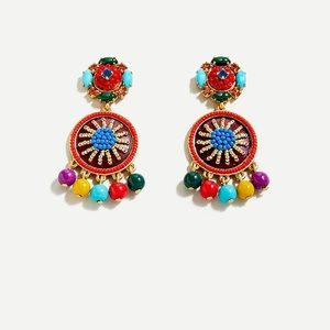 Jcrew beaded drop earring. Multicolor.